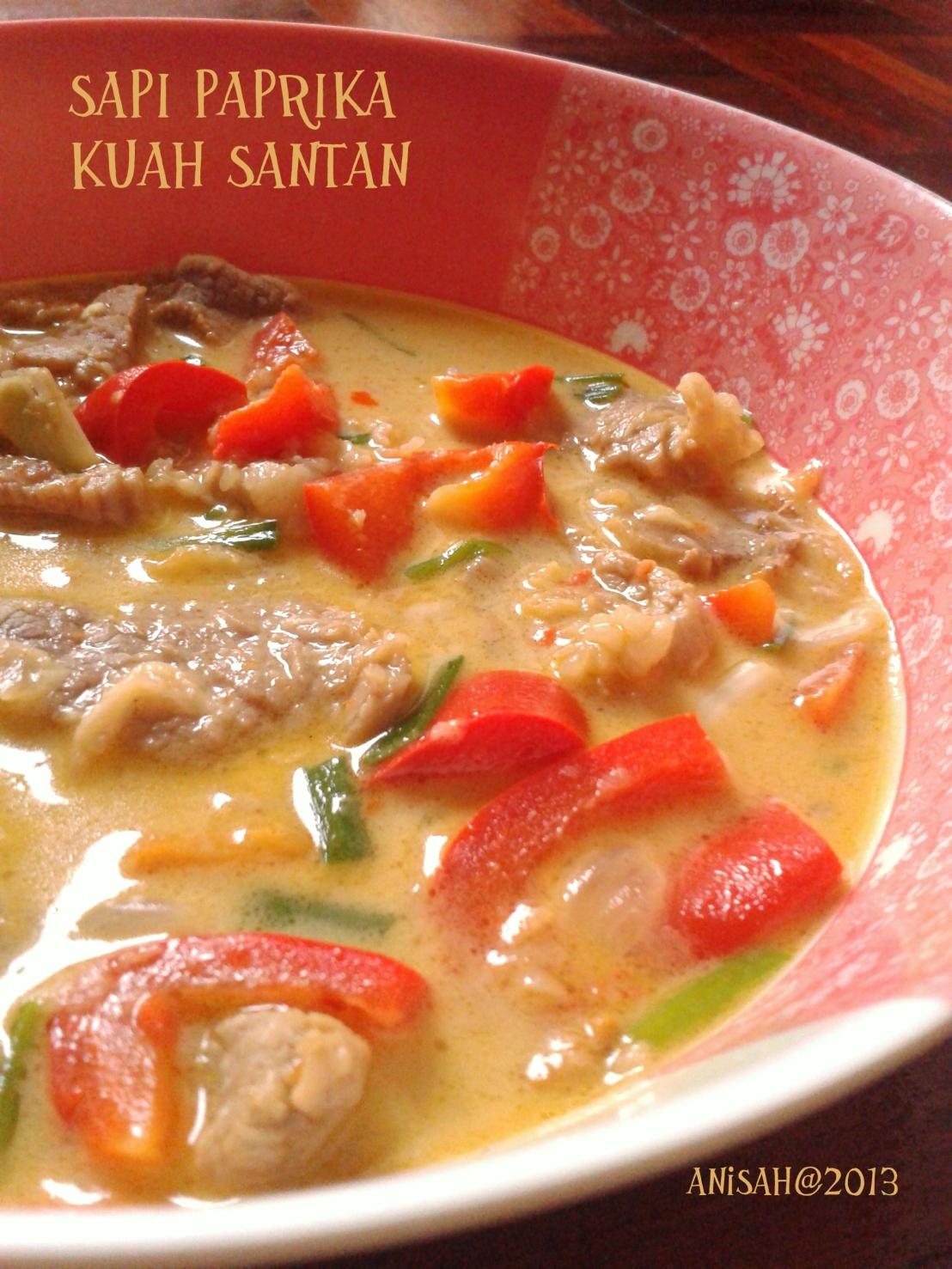 Resep Sapi Paprika KuahSantan