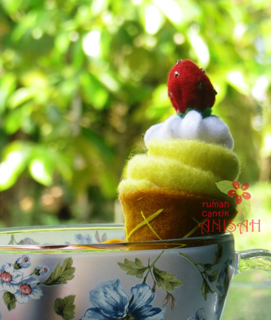 Kerajinan Flanel Makanan (food felt craft): Ice Cream